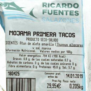 Mojama primera atún fuentes tacos 250g aprox.