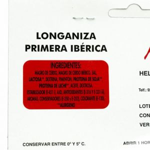 Longaniza ibérica nieto martín 250g