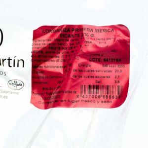 Longaniza iberica picante nieto martin 250 gr