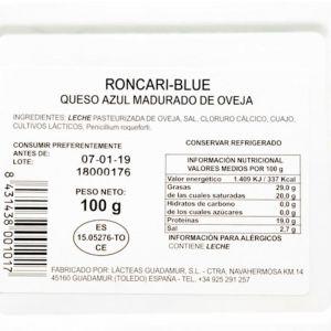 Queso roncari-blue tgt cuña 100g