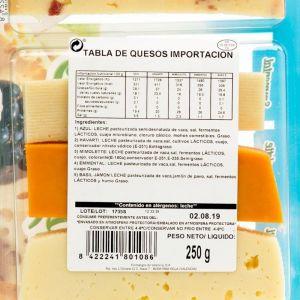 Tabla quesos importacion tgt 250g