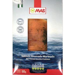 Salmon ahumado bajo en sal mas lonchas 80gr