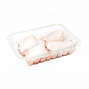 Contramuslo de pollo con piel bandeja 600g-1kg aprox.