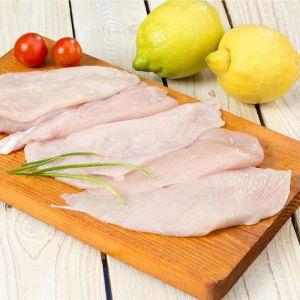 Filetes de pechuga de pollo fresco