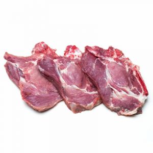 Chuleta de cabeza de lomo de cerdo fresco