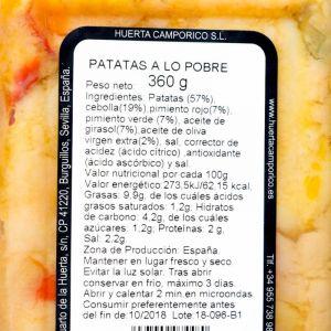 Patatas a lo pobre campo rico 360g