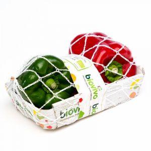 Pimiento rojo-verde ecologico  bdja 250g