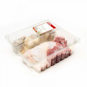 Arreglo para puchero de cerdo ypollo moreno plaza bandeja 1,2kg aprox.