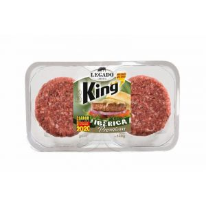 Hamburguesa king iberica el pozo p2x 140g