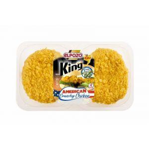 Hamburguesa king crunchy chicken c/salsa  el pozo p2x130g