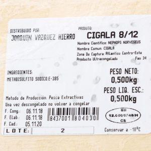 Cigala extra 8/12 cj madera    500g