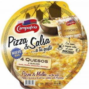 Pizza fresca 4 quesos con salsa al queso manchego campofrio 365g