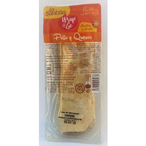 Flauta de pollo y queso la santiña 137gr