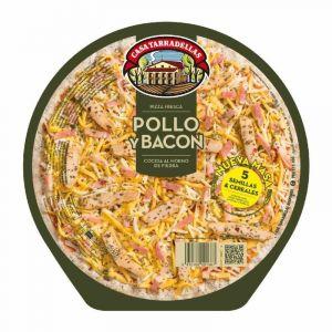 Pizza 5 cereales con pollo y bacon casa tarradellas 410g
