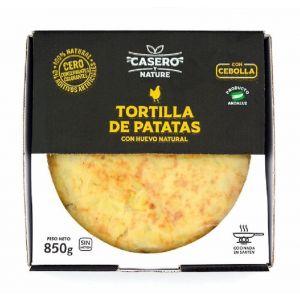 Tortilla patatas c/cebolla casero y natural 850gr