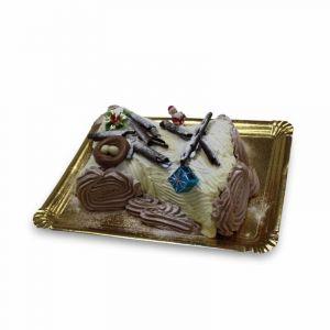 Tronco navidad chocolate y trufa blanca 1000g