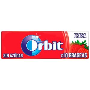 Chicles sin azucar fresa orbit 10 grageas