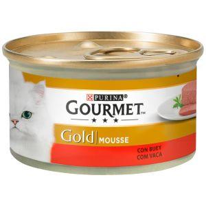Comida gato buey gourmet gold  85g