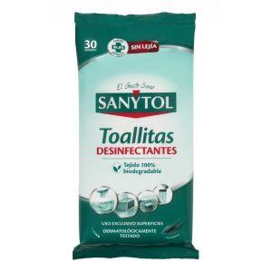Toallitas desinfectantes para el hogar sanytol 24 unidades