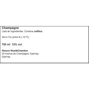 Champagne imperial rose moet chandon botella de 75cl