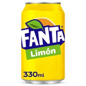 Refresco  limon fanta lata 33cl