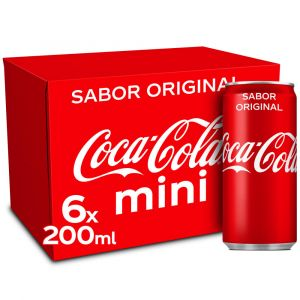 Refresco cola coca cola lata p-6x20