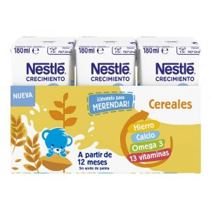 Leche crecimiento junior+1 cereal nestle p3x180ml