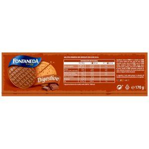 Galleta digestivas finas chocolate con  leche fontaneda 170gr