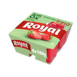 Gelatina antiox fresa royal p4x100g