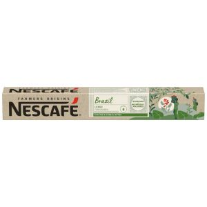 Cafe farmers origins brazil nescafe 10 cap