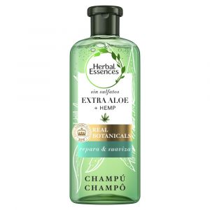 Champu 0% sulfatos aloe + cannabis fortalece y suaviza herbal essences  380ml