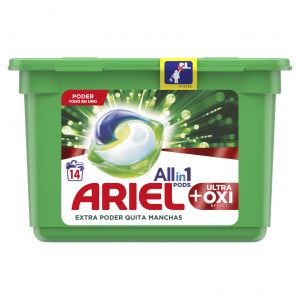 Detergente caps oxi ariel 14ds
