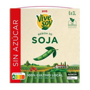 Bebida s/azucar soja vivesoy brick 1l