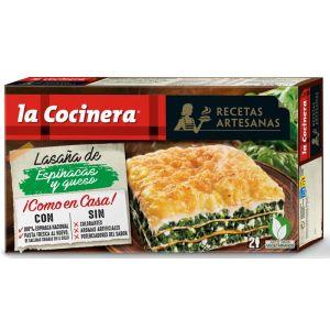Lasaña  espinaca/queso la cocinera 530g