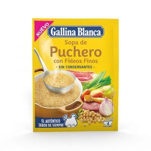 Sopa puchero/fideo gallina blanca sobre 73gr