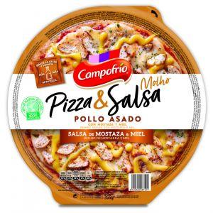 Pizza con pollo a la mostaza y miel campofrio 350g