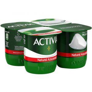 Yogur natural azucarado activia p-4x120g