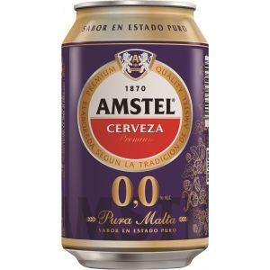 Cerveza sin alcohol 0,0%  amstel lata 33cl
