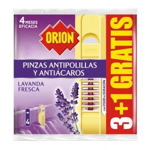Antipolillas pinza orion 3+1(pack ahorro)