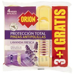 Antipolillas pinza orion 3+1(pack ahorro)