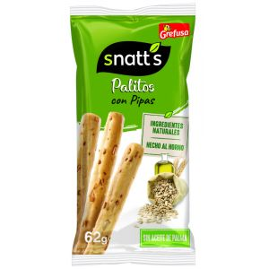 Snatts palitos de cereales con pipas bolsa 62 gr