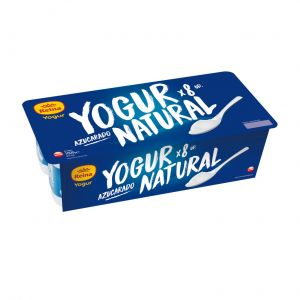 Yogur natural azucarado reina p8x125gr