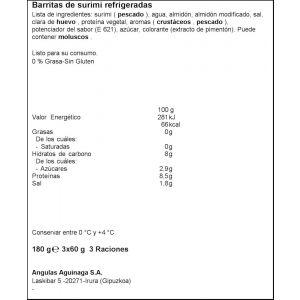 Barritas 0% krissia 180gr