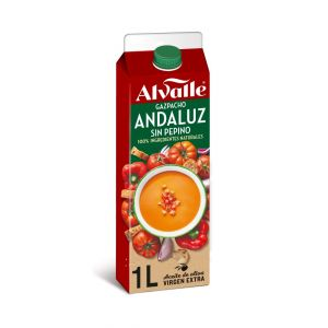 Gazpacho refrigerado andaluz alvalle brick 1l