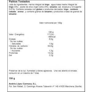 Regaña  100% integral andres  150g