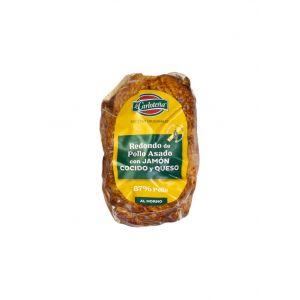 Redondo de pollo con jamón y queso la carloteña pieza 340g