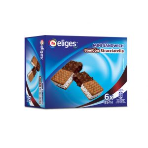 Helado mini sandwich bombon ifa eliges p6x85ml