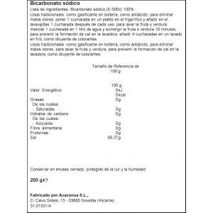 Bicarbonato sodico ifa eliges bote 200gr