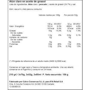Atun claro aceite girasol ifa eliges ro80 p3x52g ne
