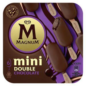 Helado mini double choco magnum p6x60ml